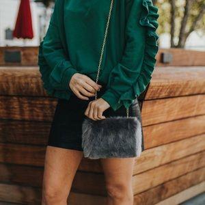 Handbags - Faux fur bag